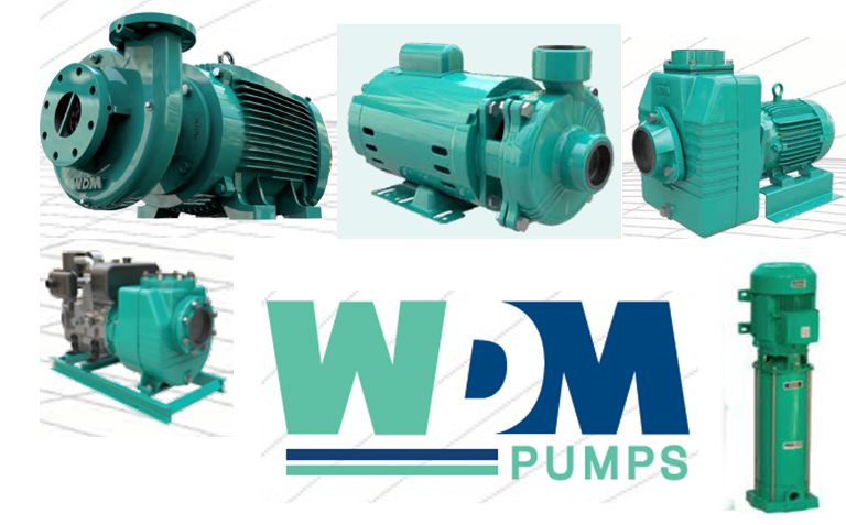A collection of pumps manufactured by WDM Pumps